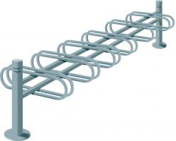 6-SPACE CYCLE RACK - DOUBLE SIDED CITY