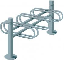 3-SPACE CYCLE RACK - DOUBLE SIDED CITY