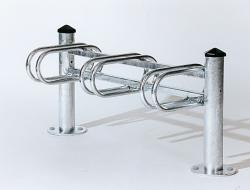 3-SPACE CYCLE RACK - SINGLE SIDED  AGORA