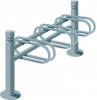 3-SPACE CYCLE RACK - SINGLE SIDED CITY