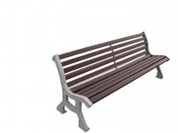 "LUBLIN SEAT - WOOD FINISH  ""LIGHT OAK"" OR ""MAHOGANY FINISH"" 2000 mm"
